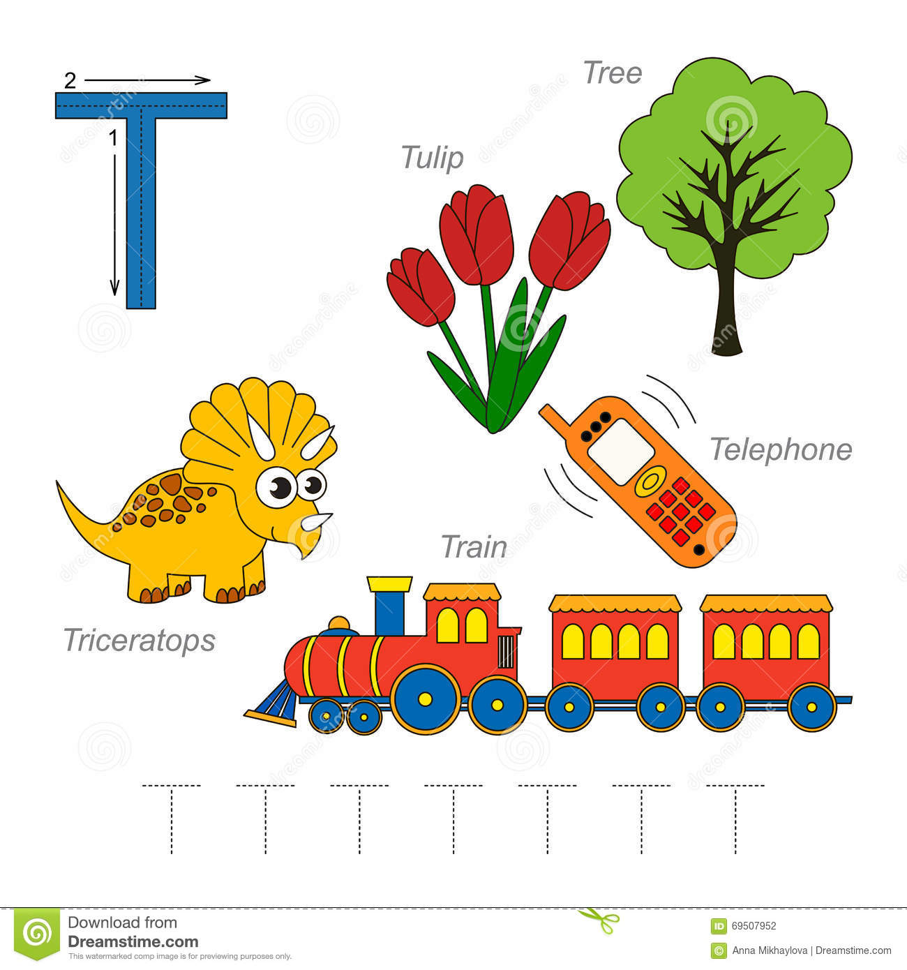Pictures For Letter T Stock Vector Illustration Of