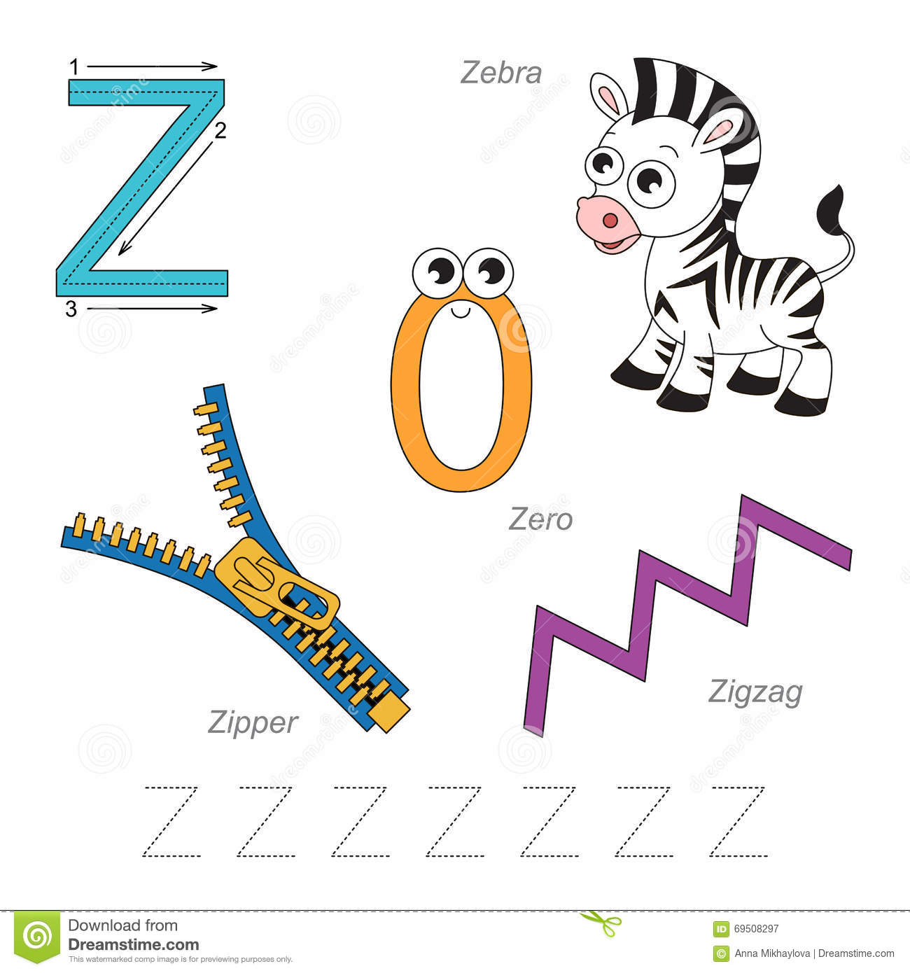Pictures For Letter Z Stock Vector Illustration Of