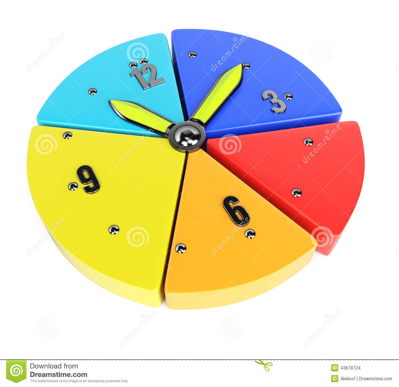 hight resolution of pie chart with clock handles