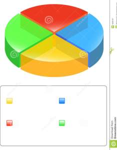 Illustration of  colored pie chart with legend also stock vector competition rh dreamstime