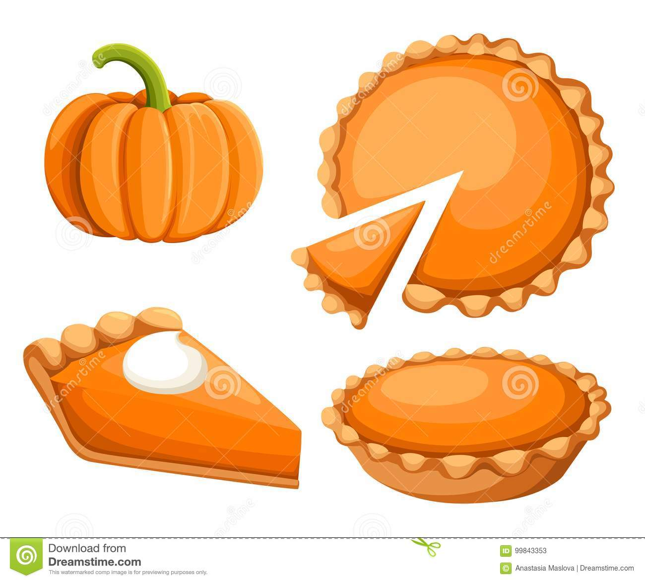 hight resolution of pies vector illustration thanksgiving and holiday pumpkin pie happy thanksgiving day traditional pumpkin pie