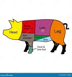 pig cutting chart [ 1300 x 1390 Pixel ]