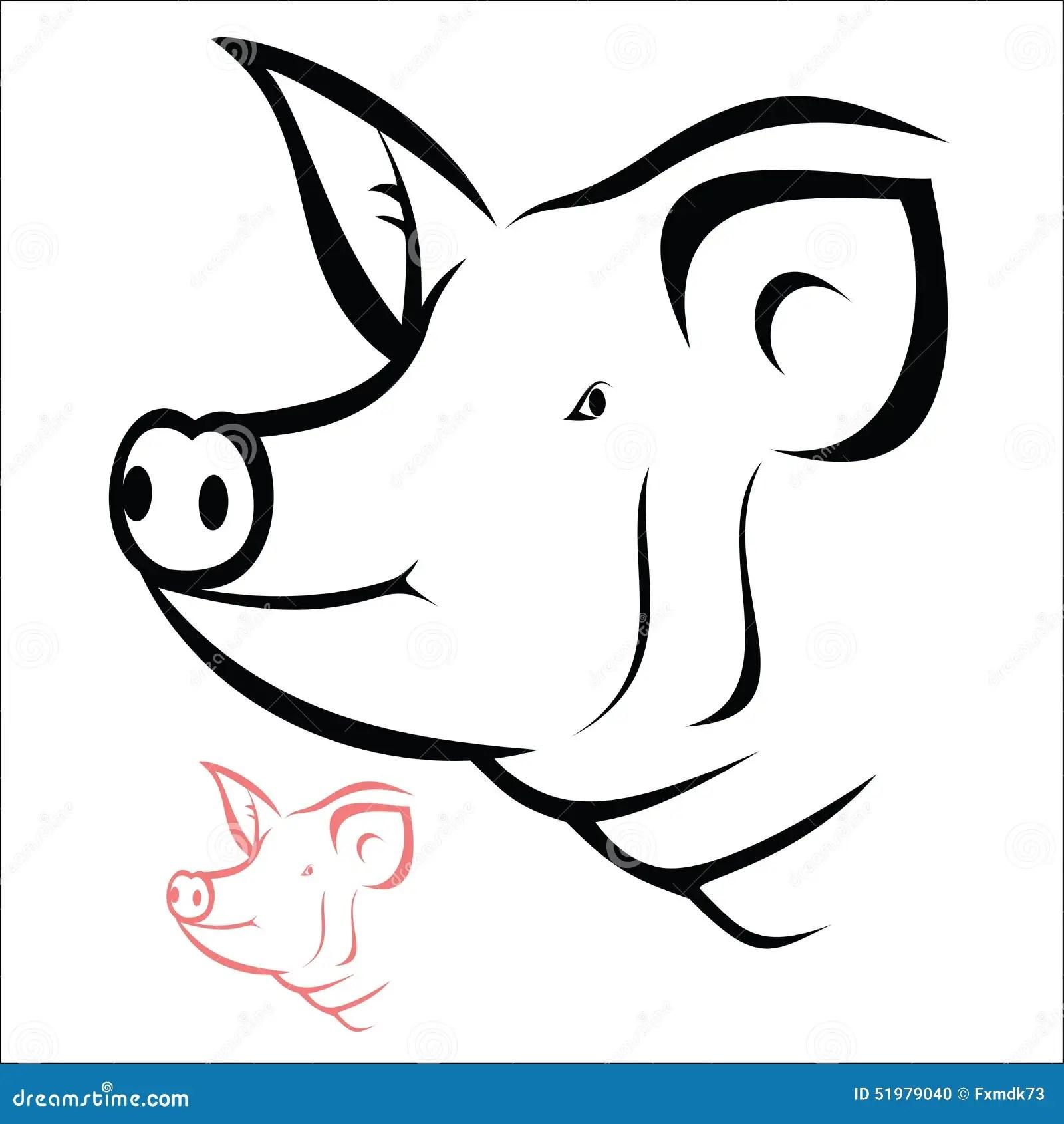 Pig Head Stock Vector