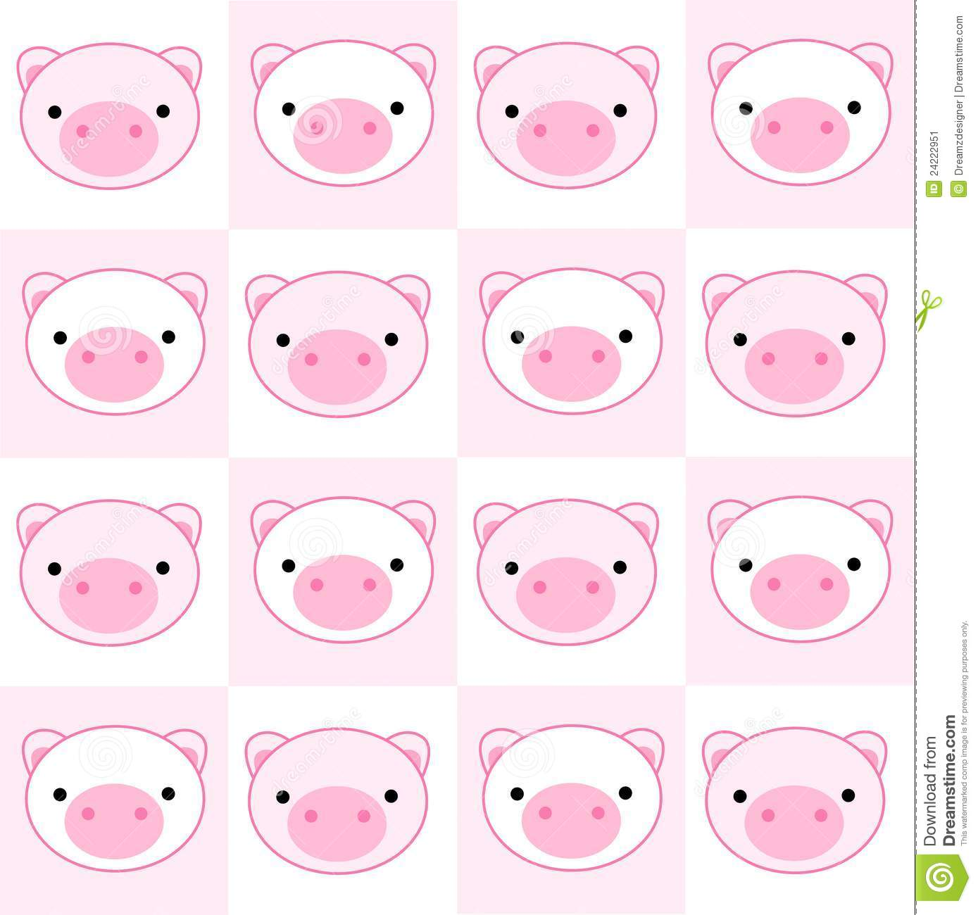 Cute Pink Pig Wallpaper Pig Seamless Pattern Stock Vector Illustration Of