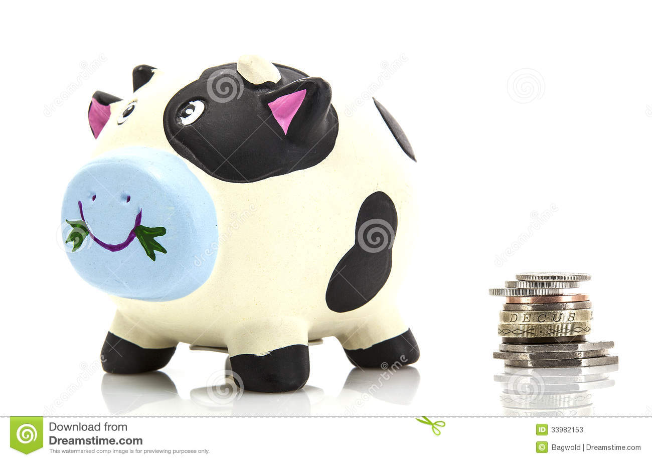 Piggy Bank With Coins Stock Image Image Of Nobody Piggy