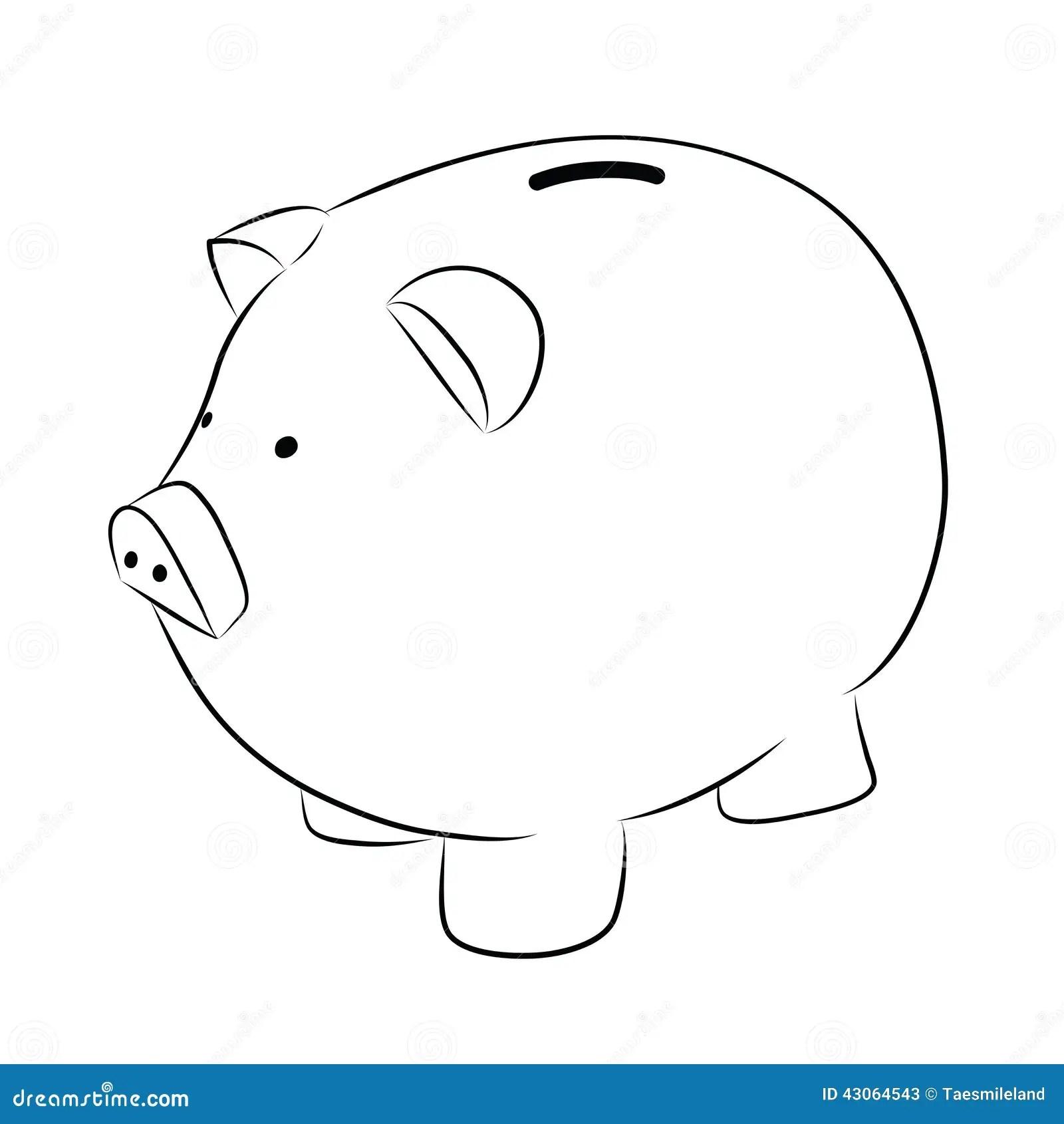 Piggy Bank Stock Vector