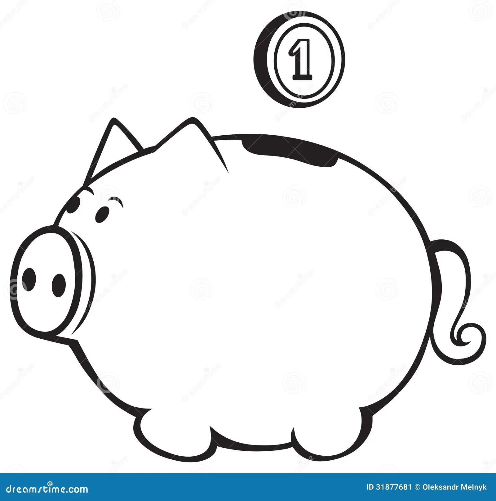 Piggy bank stock vector. Illustration of banking, money
