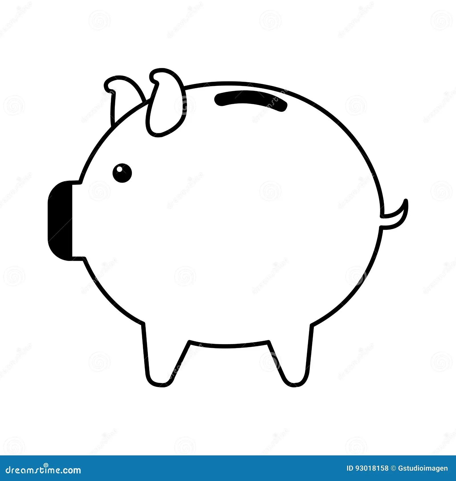 Piggy Savings Isolated Icon Vector Illustration