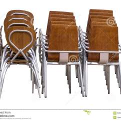 White Metal And Wood Chairs Restoration Hardware Aviator Chair Pile Of Isolated Background Stock Photo
