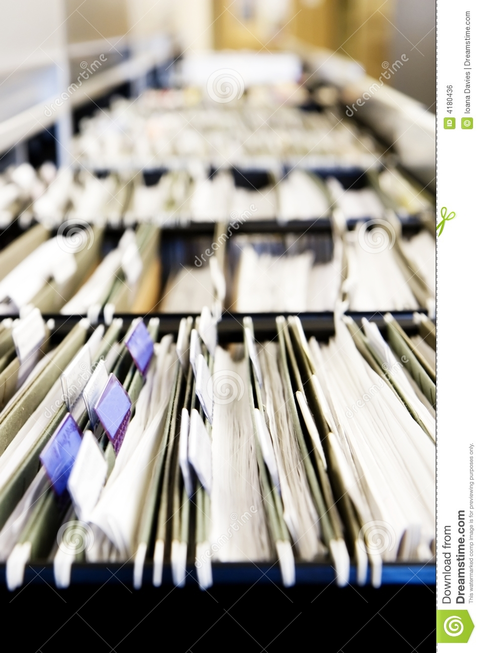 Piles Of Files Royalty Free Stock Image  Image 4180436