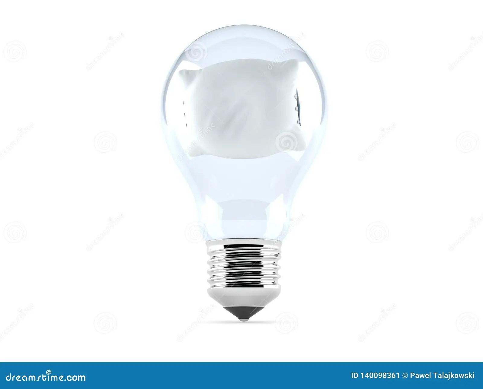 pillow inside light bulb