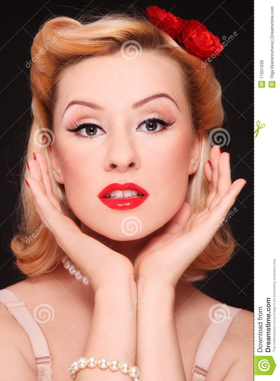 Pin Up Girl Royalty Free Stock Images Image 17501639