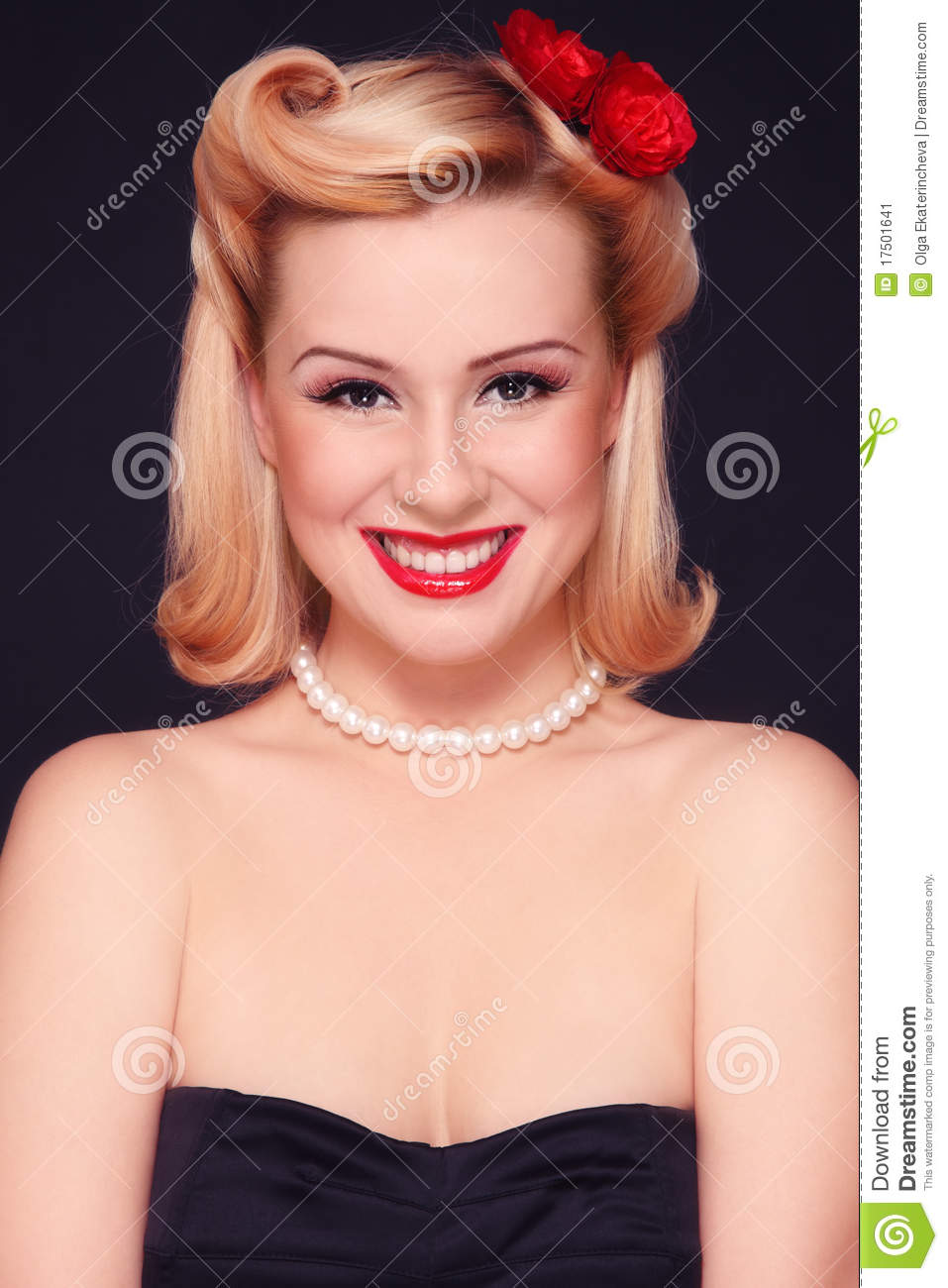 Pin Up Girl Stock Image Image Of Groomed Glam Blond 17501641