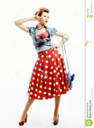 american young woman clutch clothes pose studio preview glamor