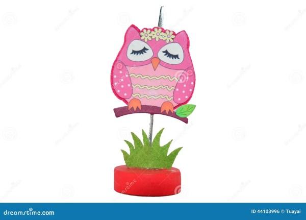 Pinch Paper Clip Owl Model Stock Illustration