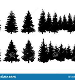 concept design a illustration vector of pine tree vector clip art isolated on white background [ 1600 x 1126 Pixel ]