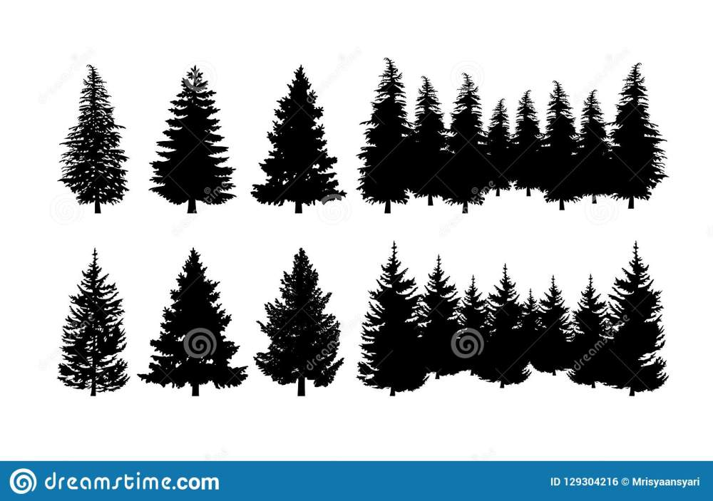 medium resolution of concept design a illustration vector of pine tree vector clip art isolated on white background