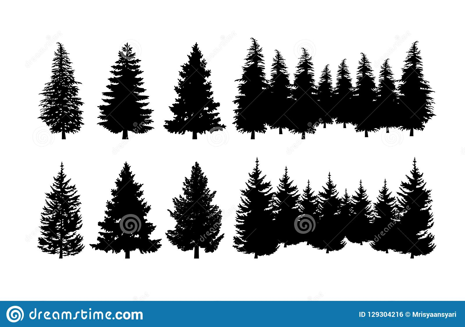 hight resolution of concept design a illustration vector of pine tree vector clip art isolated on white background