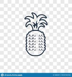 Pineapple Concept Vector Linear Icon Isolated On Transparent Background Pineapple Concept Transparency Logo In Outline Style Stock Vector Illustration of flat watermelon: 130082997