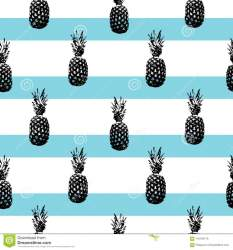 pineapple silhouettes striped pattern