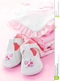 Pink Baby Clothes For Infant Girl Stock Photos - Image ...