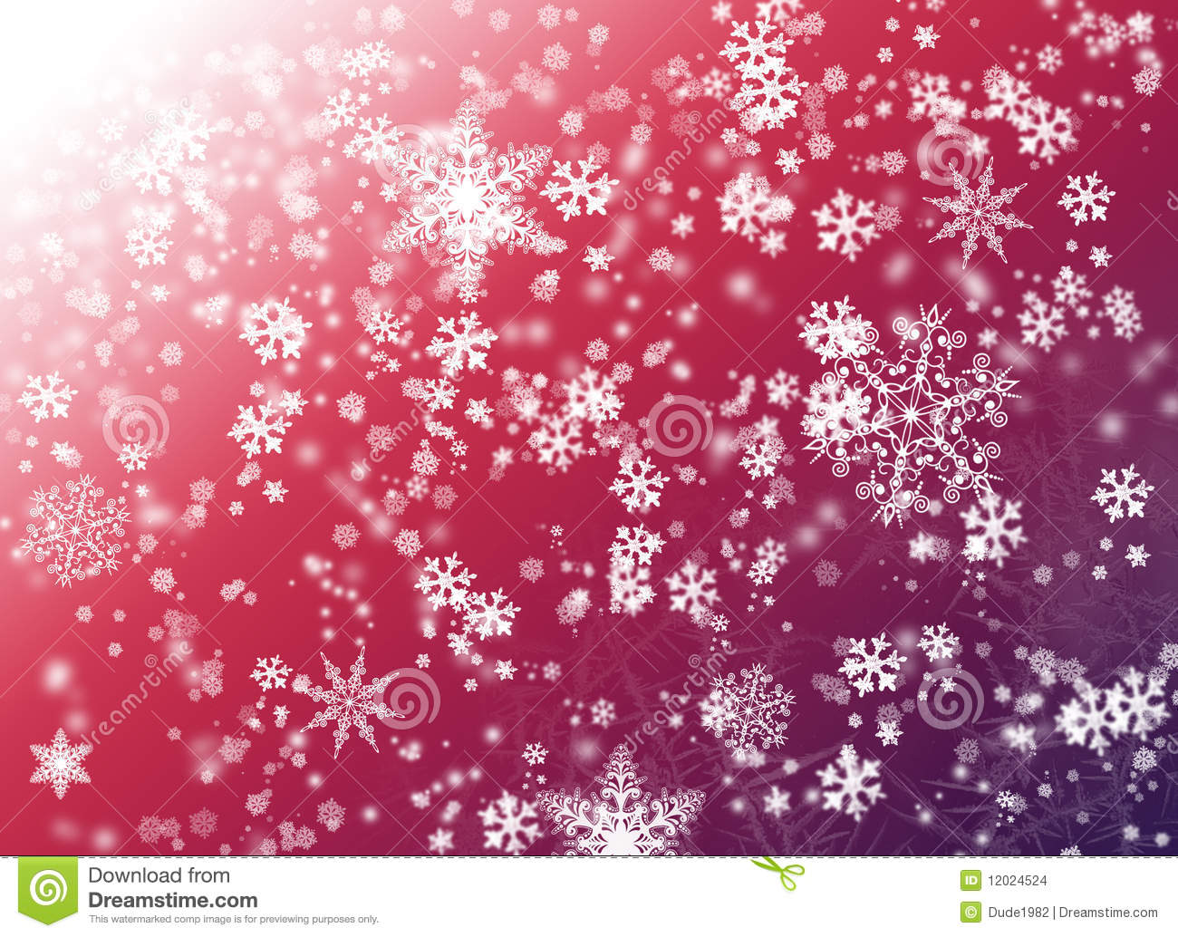 Free Christmas Falling Snow Wallpaper Pink Background With Snowflake Stock Illustration Image