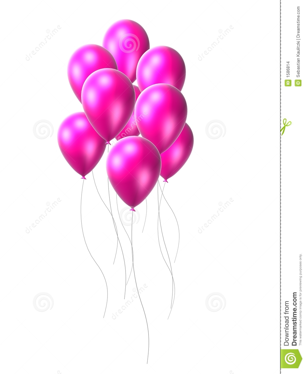Pink Balloon Stock Images Image 1586814