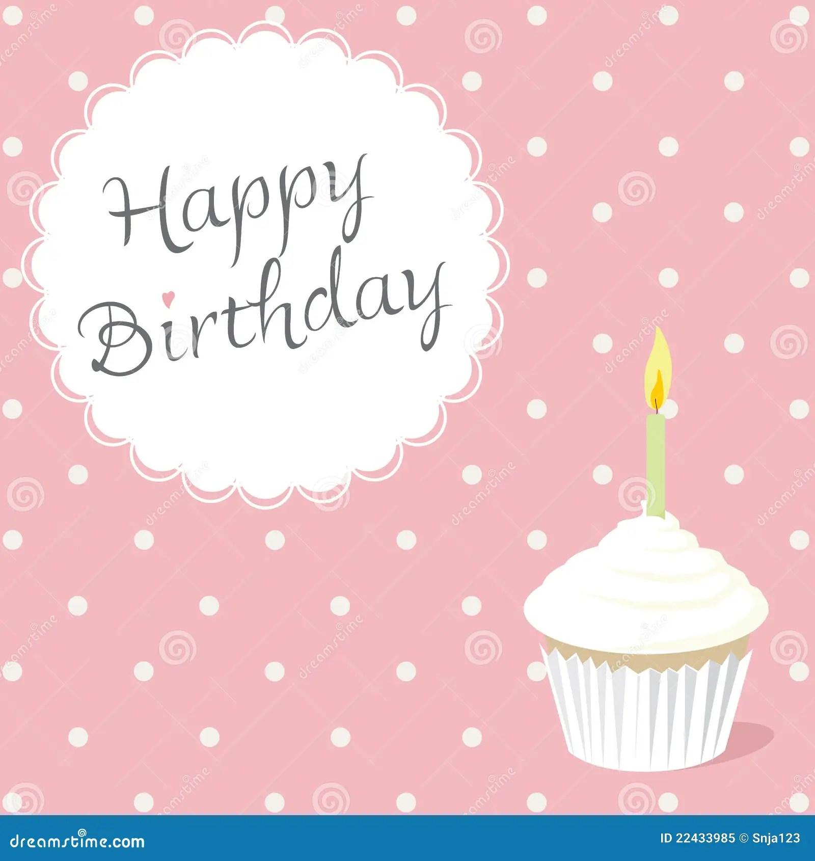 Pink Birthday Card Stock Illustration Image Of Holiday