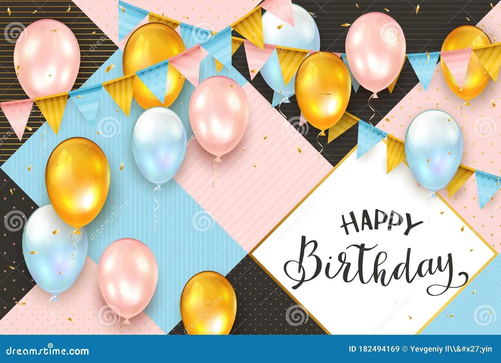 Balloon Pink Design Birthday Background Bellona Koltuk Takimlari
