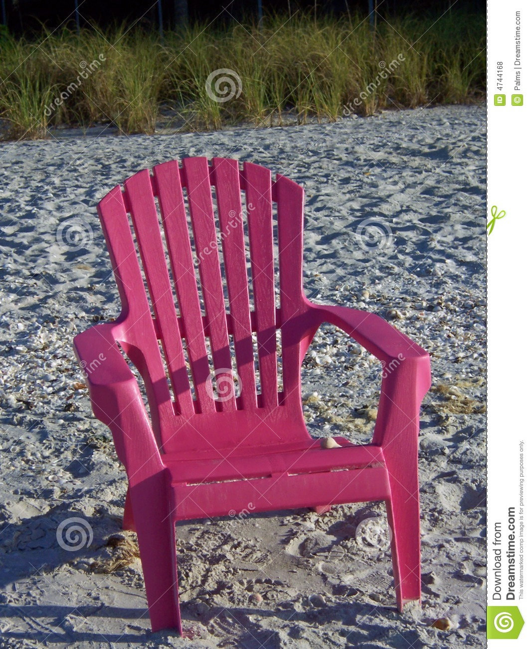 pink beach chair chef cushions on a royalty free stock photos image