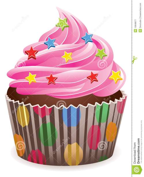 small resolution of pink cupcake