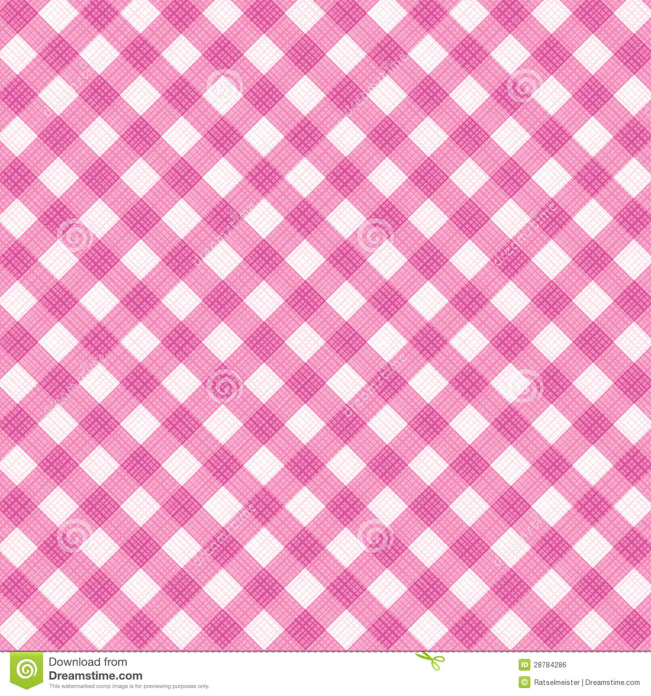 Pink Gingham Fabric Cloth Seamless Pattern Included Stock