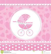 Pink girl baby stroller stock vector. Illustration of ...