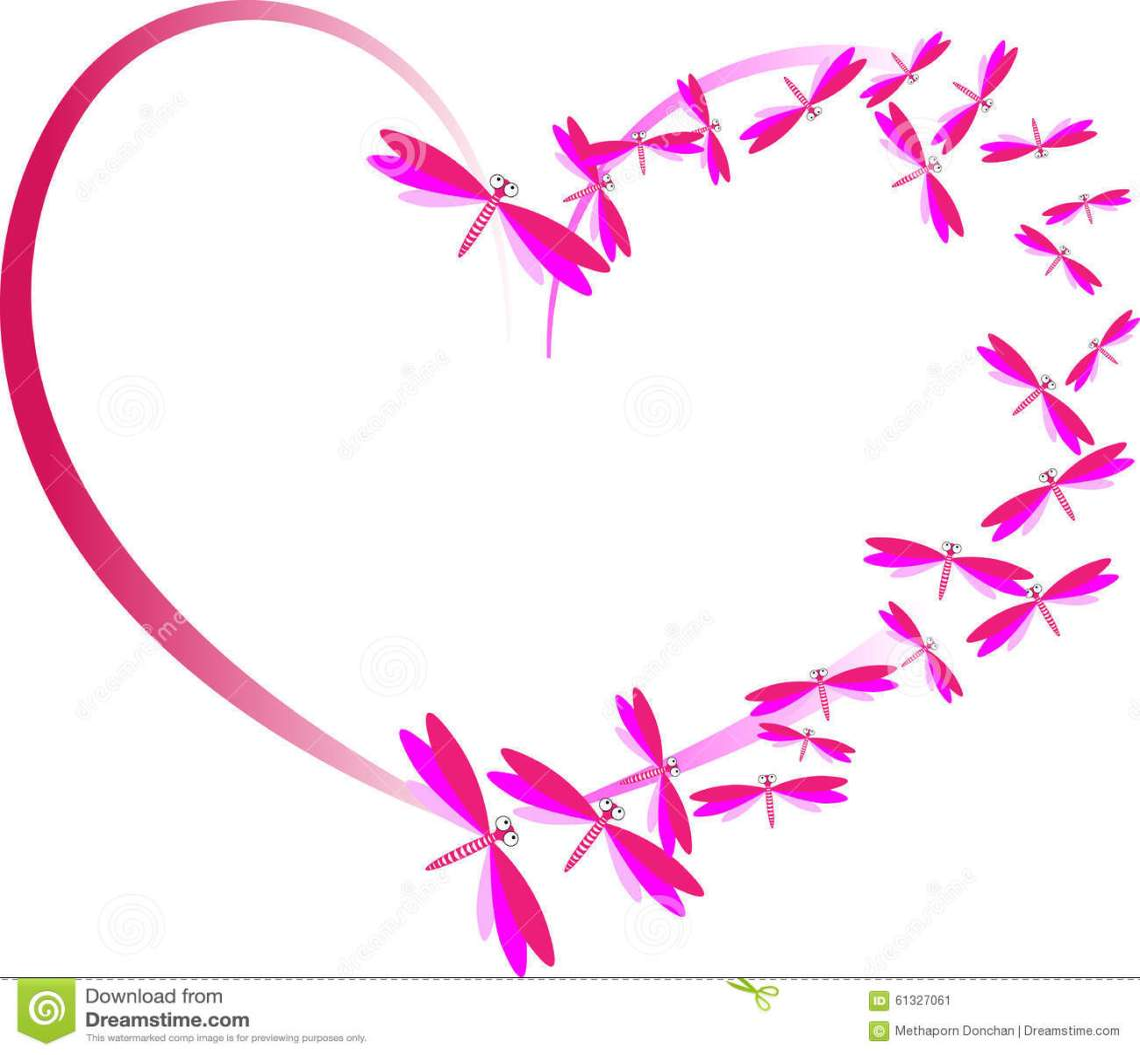 Download Pink Heart Of Love Stock Illustration - Image: 61327061
