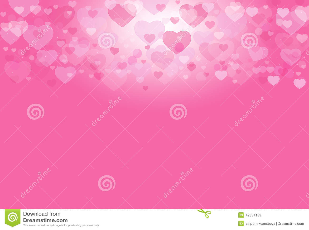 Pink Heart Valentine Sweet Background Stock Image Image