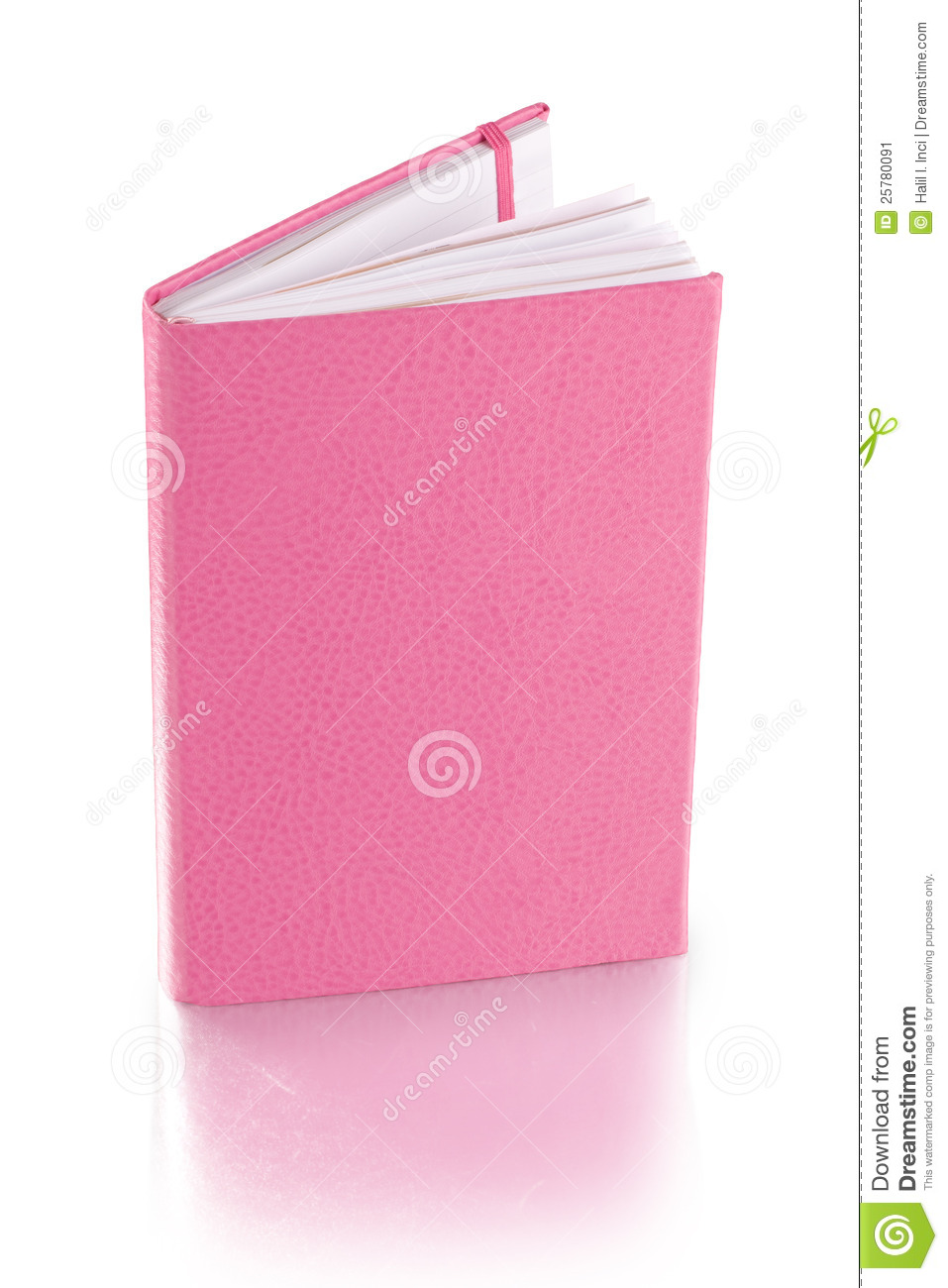 Pink Leather Diary Book  Clipping Path Stock Image