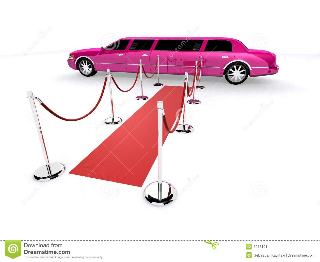 Limousine Roter Teppich Pink Limousine And Red Carpet Stock Illustration