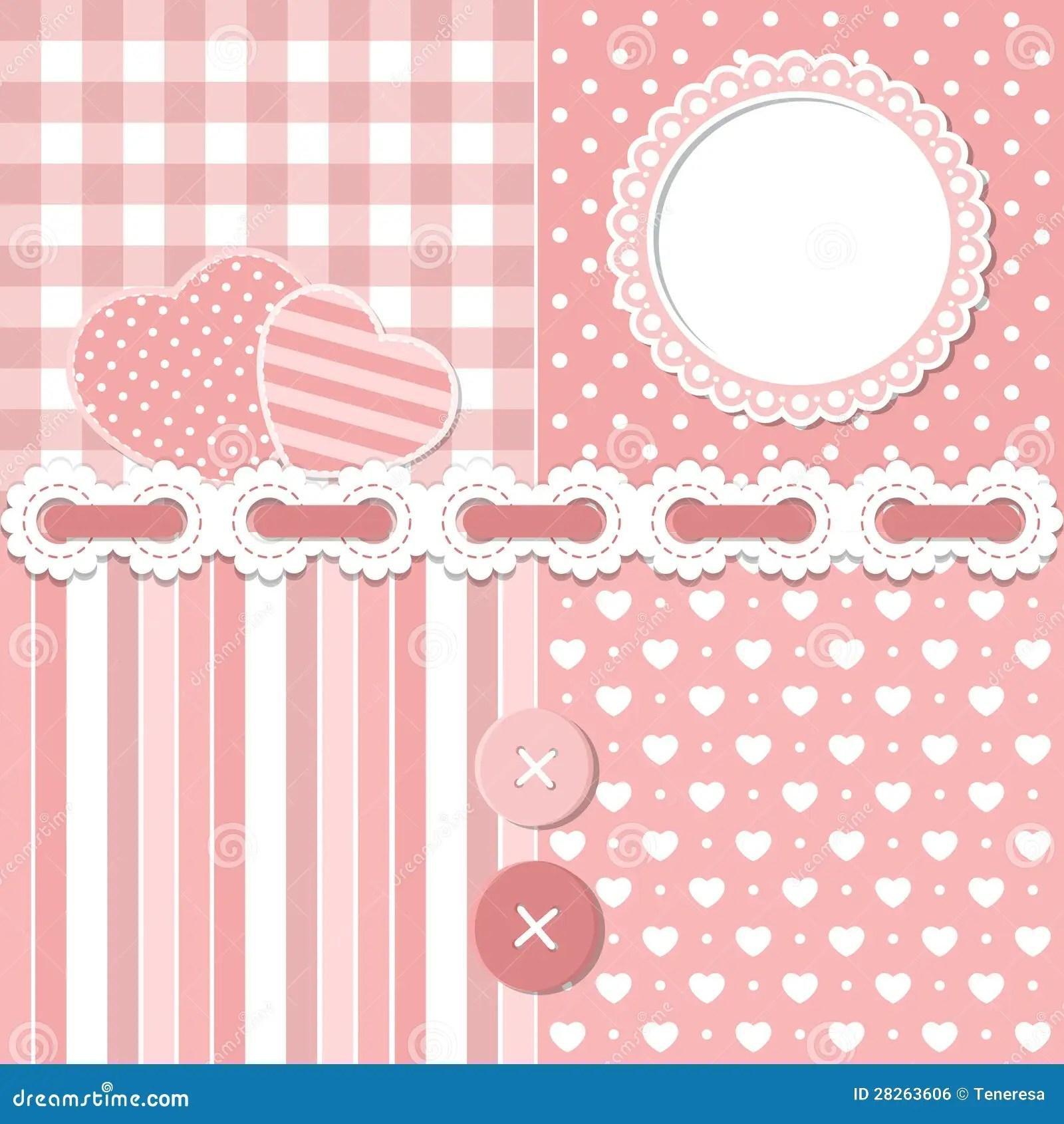 Cute Sweet Baby Hd Wallpaper Pink Scrapbook Set Royalty Free Stock Image Image 28263606