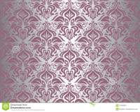 Pink & Silver Vintage Wallpaper Stock Vector ...