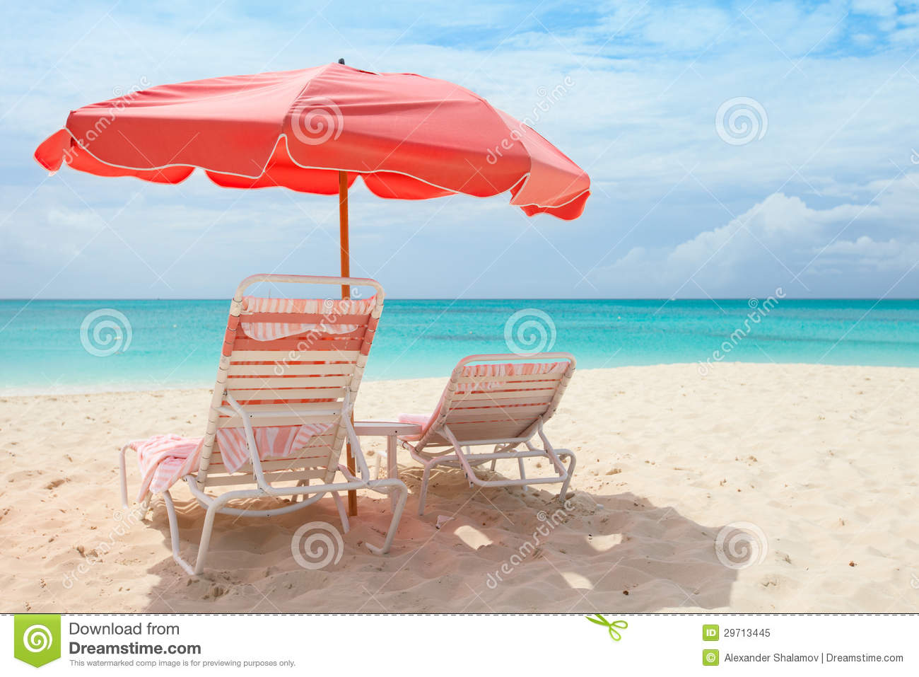 pink beach chair swivel chairs office tropical royalty free stock photo image 29713445