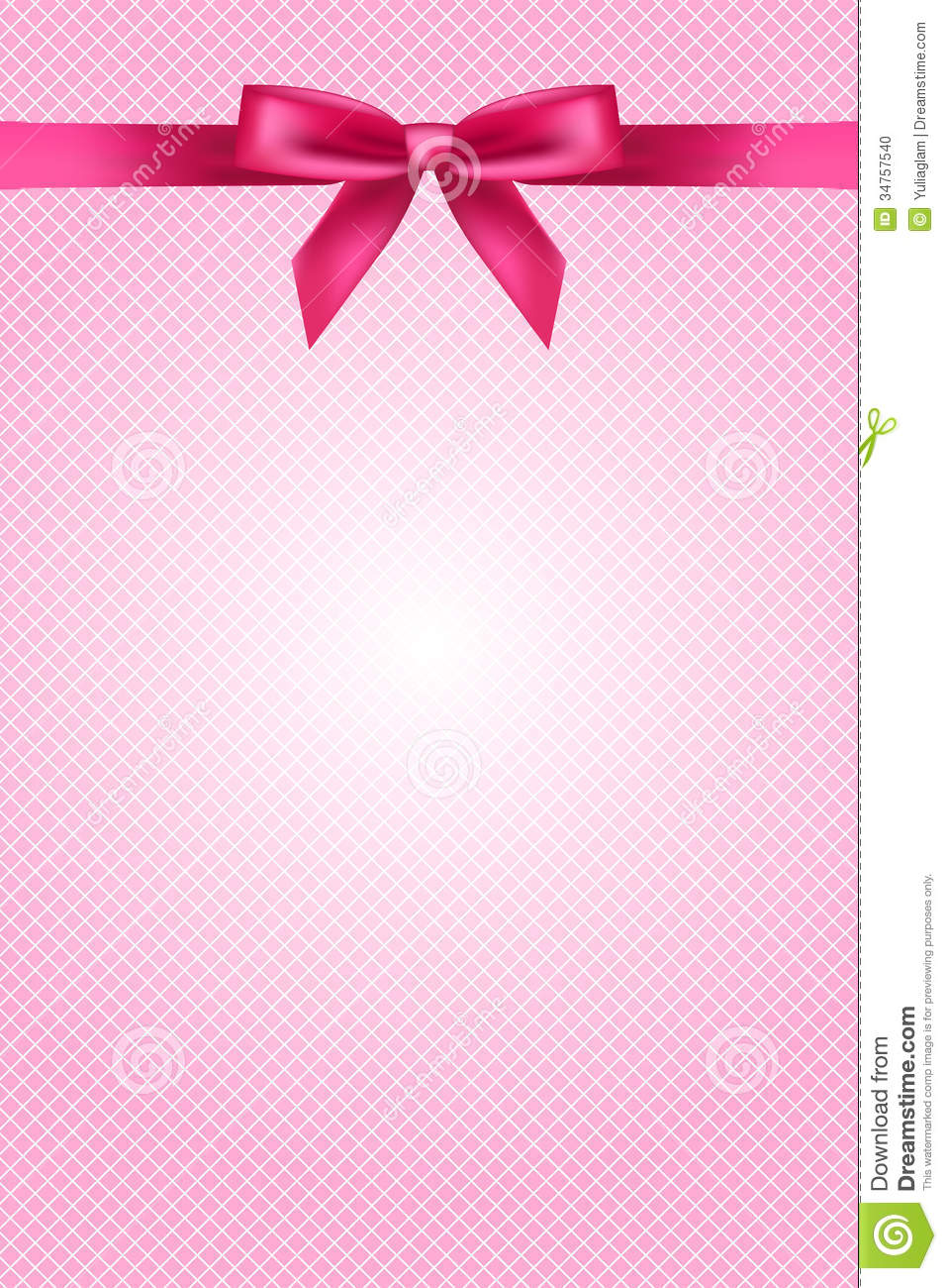 Mouse Wallpaper Cute Pink Wallpaper With Bow And Lace Stock Vector