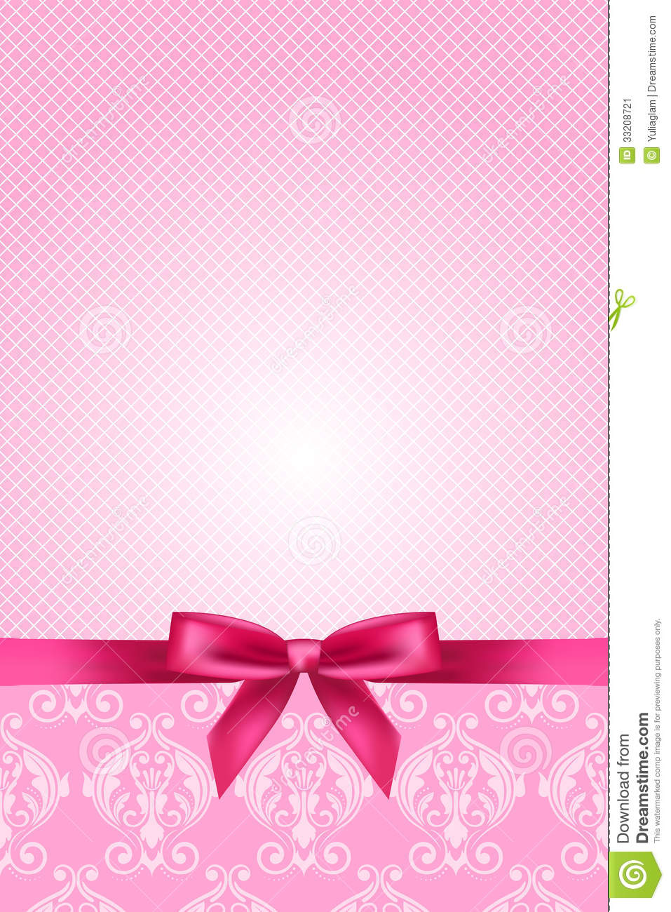 Animated Princess Wallpapers Pink Wallpaper With Bow Stock Vector Image Of Card
