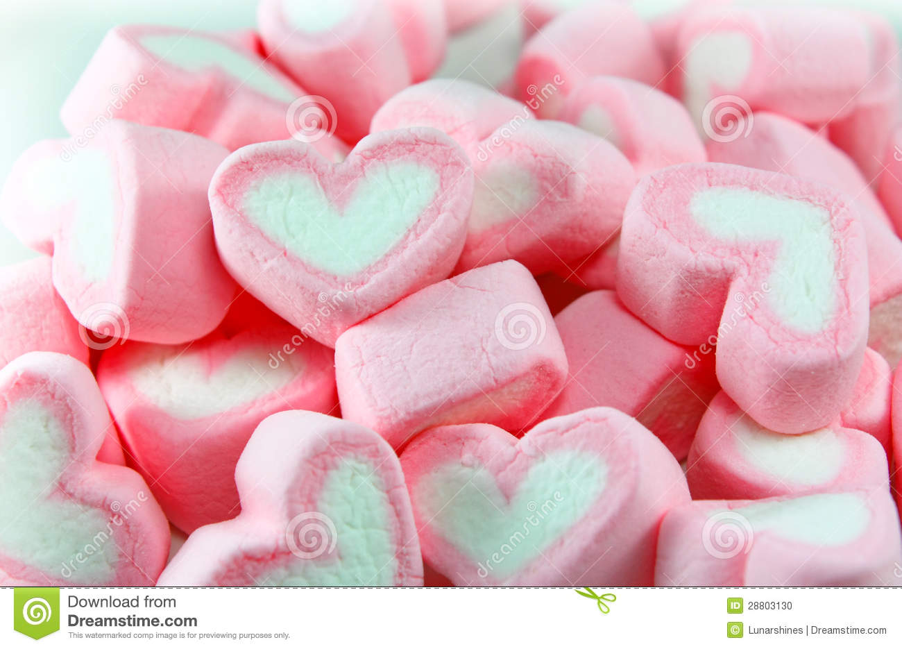 Cute Dessert Wallpaper Pink And White Marshmallow Background Stock Photo Image
