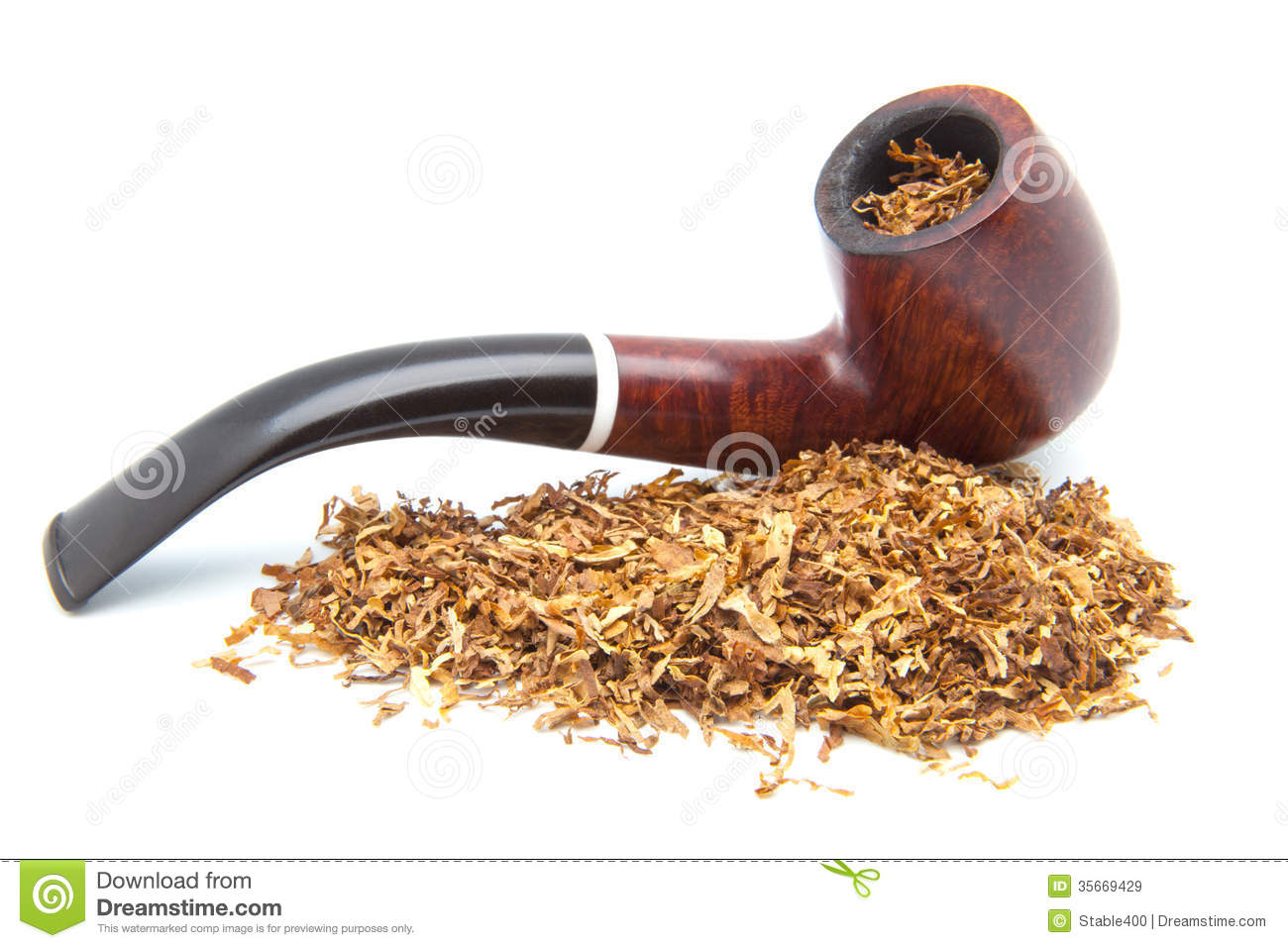 Pipe to smoke tobacco stock image. Image of perfumed
