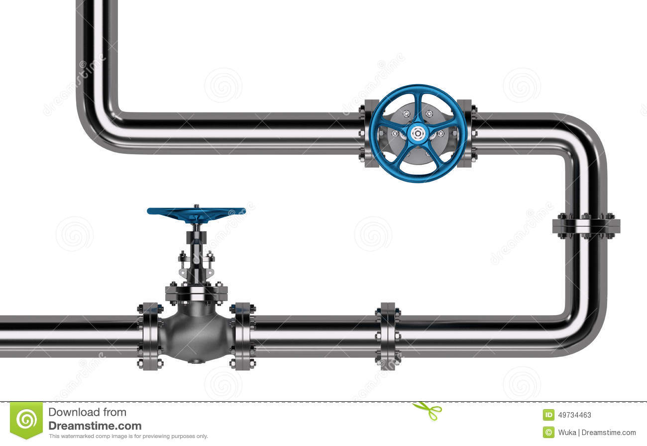 Pipes With Valves Stock Image Image Of Pipe Pipeline
