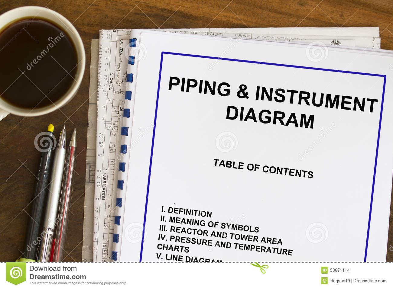 hight resolution of piping instrument and diagram