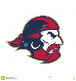 clipart picture of a pirate head cartoon mascot logo character [ 1300 x 1390 Pixel ]