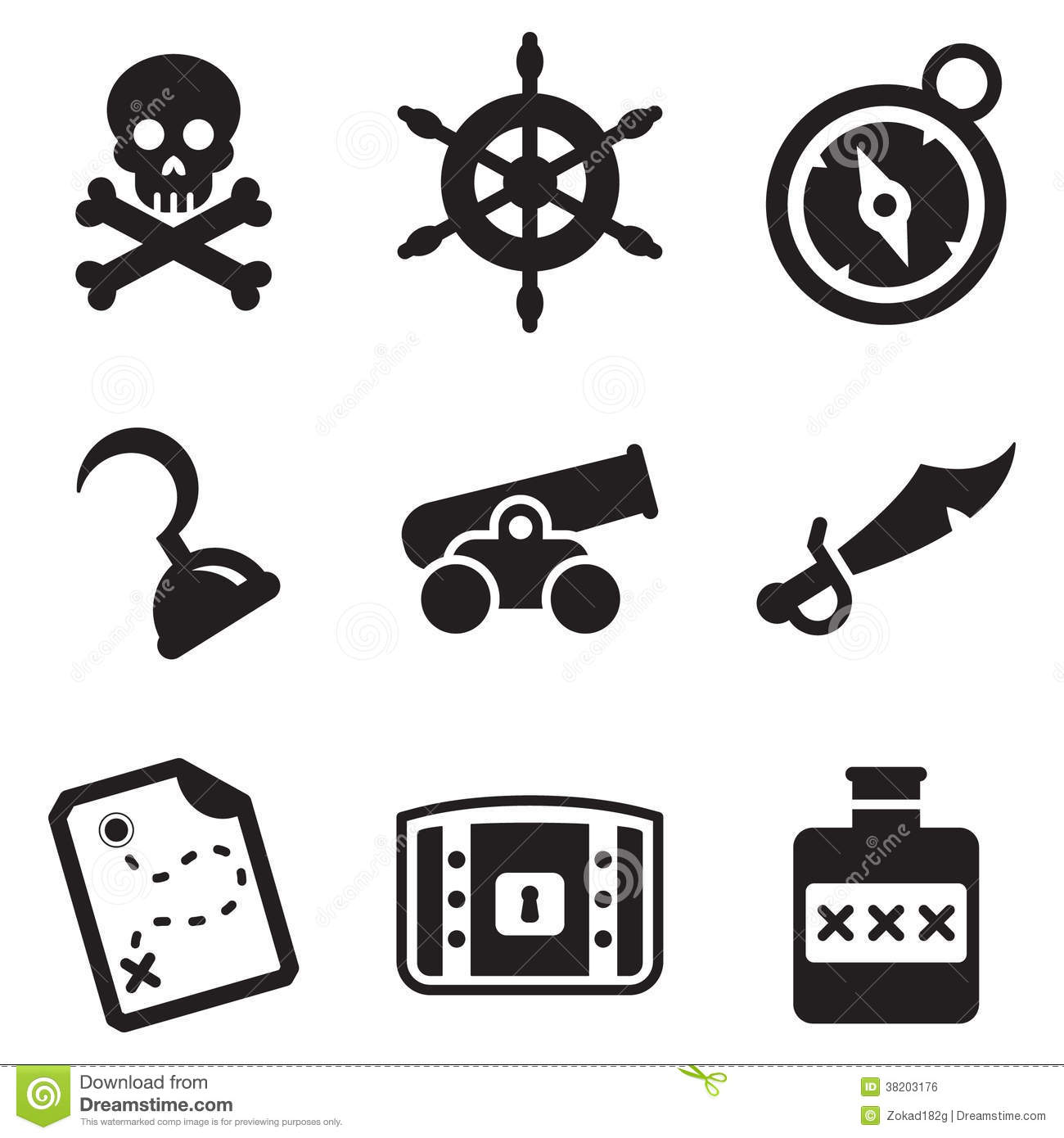 Pirate Icons Stock Illustration Illustration Of Black