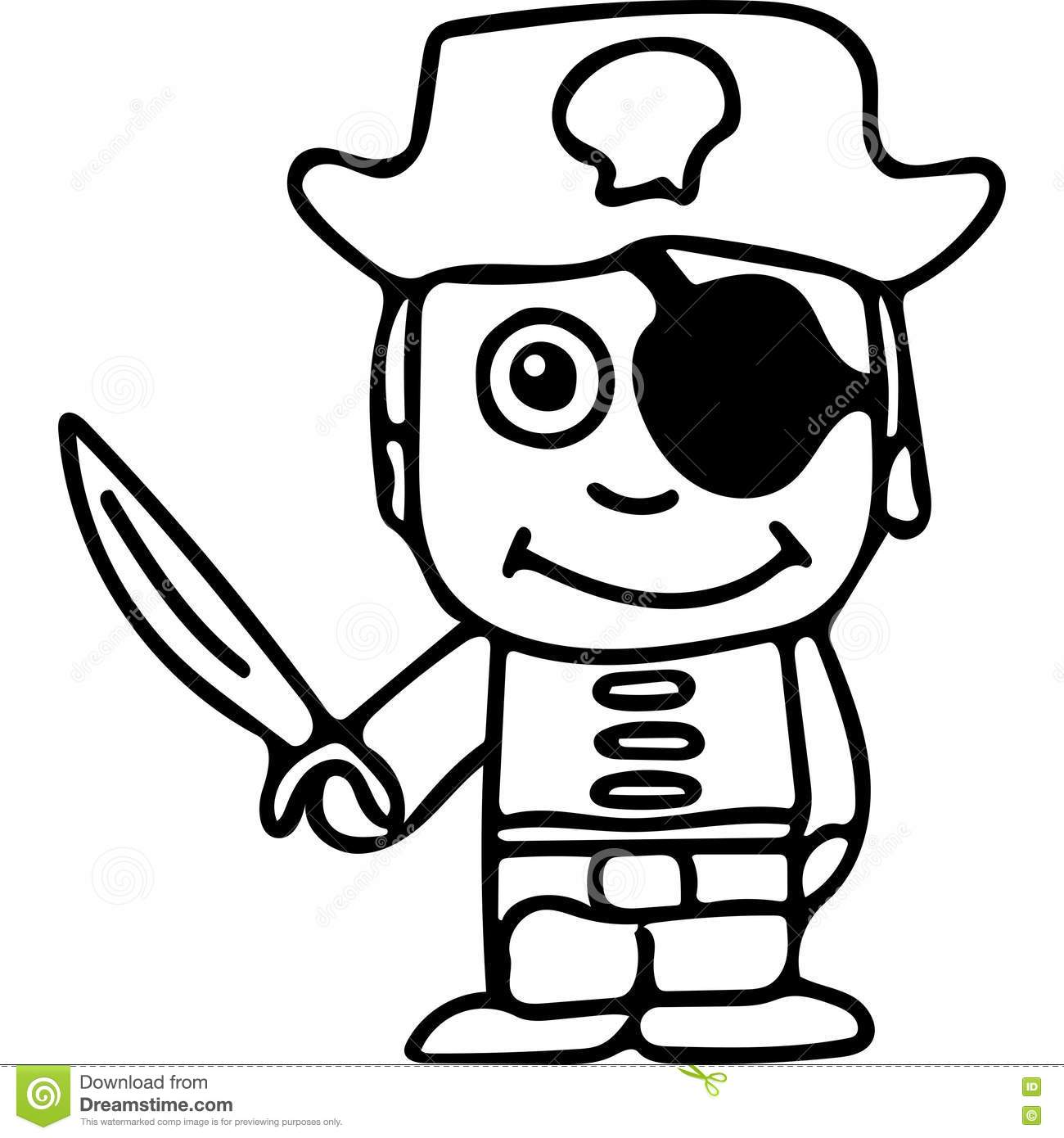 Pirate Kids Coloring Page Stock Illustration Illustration Of Character