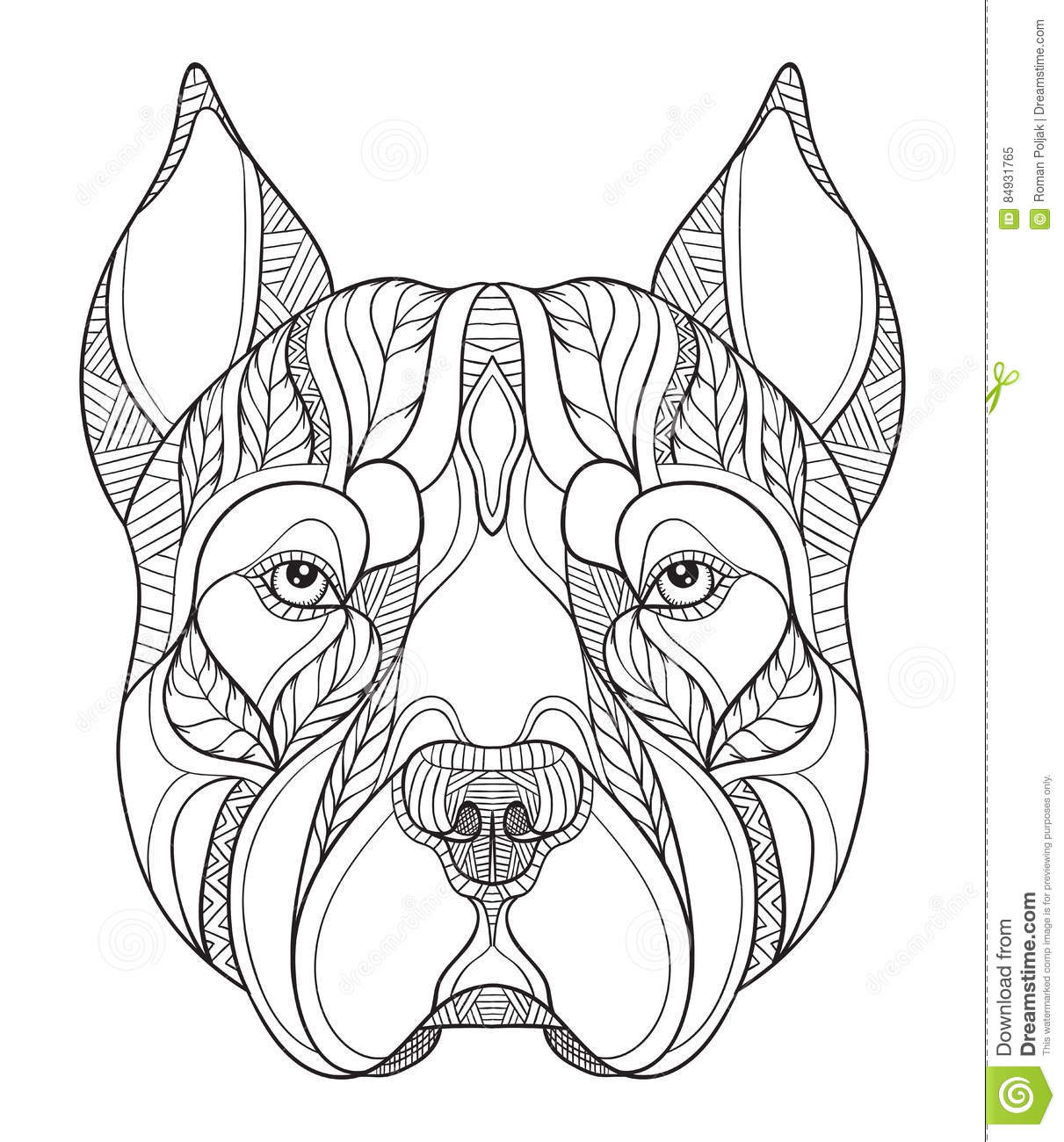 Pitbull Stylized Vector Logo Cartoon Vector